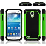 Impact Rugged Dual Layer Shock Proof Case Cover For Samsung Galaxy S4 Mini i9190 - Green