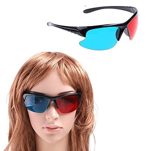 5pcs Black Frame Red Blue 3d Glasses for Dimensional Anaglyph Movie Game DVD