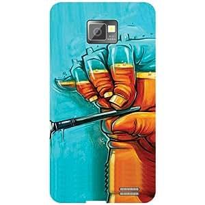 Samsung I9100 Galaxy S2-Modern Art Matte Finish Phone Cover
