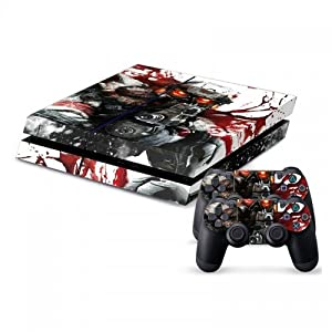 258stickers® Playstation 4 Console Skin & Remote Controllers Skin - Helghast Mask