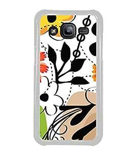 ifasho Designer Phone Back Case Cover Samsung Galaxy J2 J200G (2015) :: Samsung Galaxy J2 Duos (2015) :: Samsung Galaxy J2 J200F J200Y J200H J200Gu ( Black and White Design Pattern )