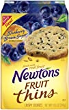 Newtons Fruit Thins Blueberry Brown Sugar, 10.5-Ounce (Pack of 4)