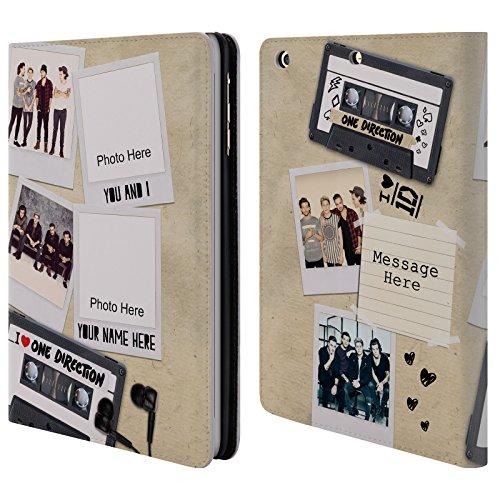 Cover Personalizzata Personale One Direction 1D Cassetta Crazy Over You A Portafoglio Per Apple iPad mini 1 / 2 / 3