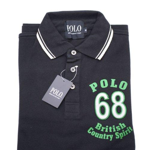 【POLO】鹿の子ポロシャツ 68エンブレム刺繍 (長袖)