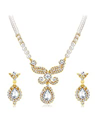 Sukkhi Artistically Gold Plated AD Necklace Set