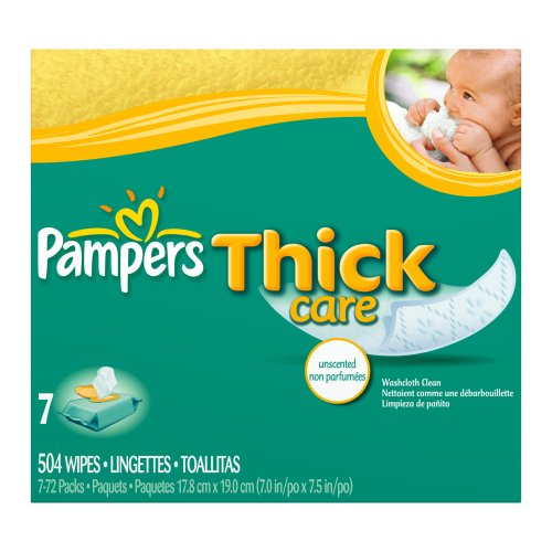 Cake Art Webstore Coupon : Pampers ThickCare Wipes, Unscented, 504 Count