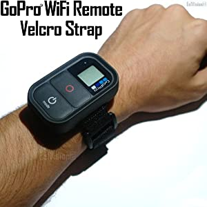 GoPro WiFi Remote Control Velcro Wrist Strap / Band / Mount / Mounting / Accessory - HERO3 HERO Black Silver White