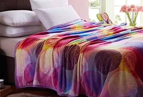 Mg Home Textile 2014 Four Season Collection Fleece Flannel Blanket Oneiromancy Pattern Twin Size back-77914