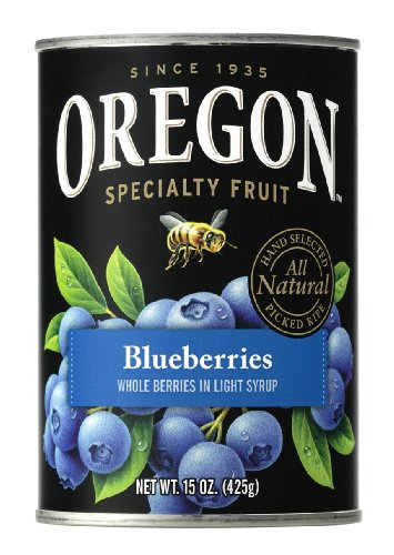 Oregon Fruit Blueberries in Light Syrup, 15-Ounce Cans (Pack of 8) (Fruit Cans compare prices)