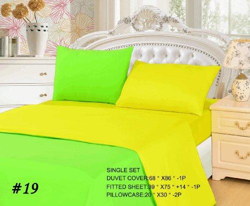 Tache 4 Piece Yellow And Green Lemon Lime Duvet Cover Set, Single front-840646