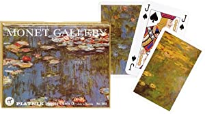 Piatnik Monet Gallery Lilies Bridge Playing Cards