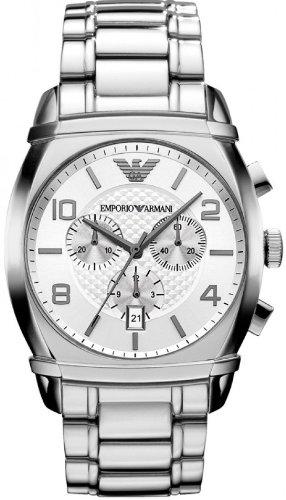 Emporio Armani Men's AR0350 Classic Silver Chronograph Dial Watch