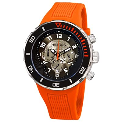 Philip Stein Men's 33-XBOGR-RO Active Orange Rubber Strap Watch