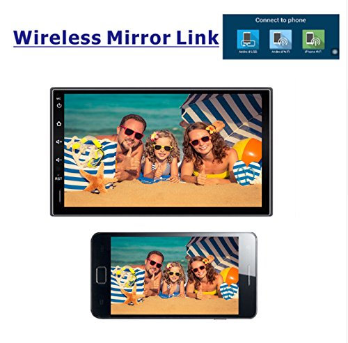 """Ezonetronics 7""""HD Touchscreen Android5.1.1 Car Navigation Stereo - 2 Din Quadcore Car Entertainment Multimedia FM/RDS Radio,GPS,WIFI,BT,Mirror Link(No DVD Player!) CT009"""