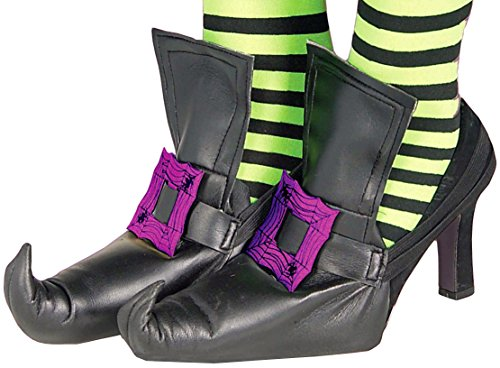 Forum Novelties Women's Wild 'N Witchy Adult Shoe Covers, Purple, One Size - 1
