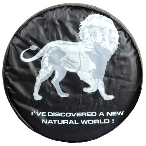 Moonet Spare Tire Cover With Lion Image Black Heavy Duty Fits 255/65R16 215/70R16 235/75R15 245/70R15 255/55R18 (Lion Spare Tire Cover compare prices)