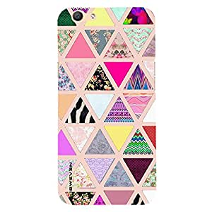 iSweven printed OppoF1s_3183 In color Triangle Design Multicolored Matte finish Back case cover for Oppo F1s