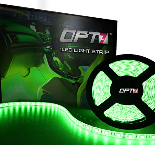 OPT7® 16ft LED Light Strip – 5mil™ Wide-Angle SMD – 100 Mini-Strips – Green