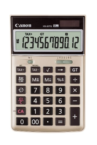 Canon HS-20TG 12-Digit Green Desktop Calculator with Tax Function