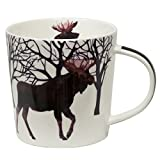Paperproducts Design Winter Solstice Moose Porcelain Gift Boxed Mug, 13.5-Ounce, Multi-Color