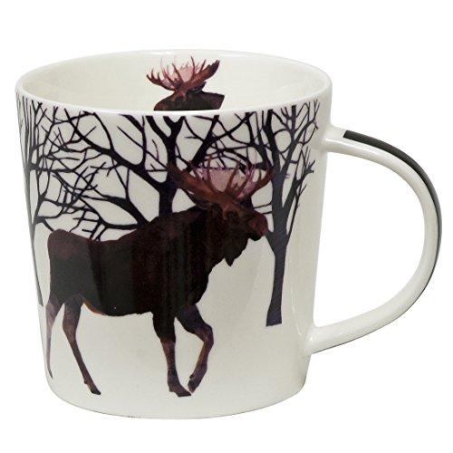 Paperproducts Design Winter Solstice Moose Porcelain Gift Boxed Mug, 13.5-Ounce, Multi-Color