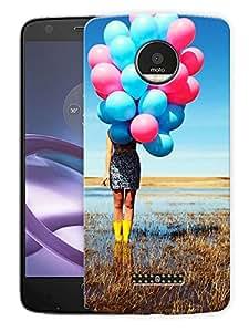"Girl With BalloonsPrinted Designer Mobile Back Cover For ""Motorola Moto Z"" (3D, Matte, Premium Quality Snap On Case)"