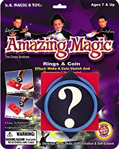 Amazing Magic RINGS & COIN MAGIC TRICK Easy to Perform - Colors Vary