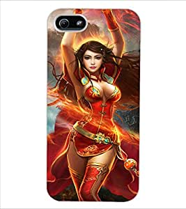 ColourCraft Beautiful Girl Dancing Design Back Case Cover for APPLE IPHONE 5S