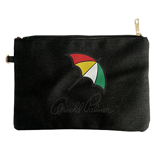 American Professional Golfer Arnold Palmer Canvas Zipper Pouch Pencil Case, Make Up Bag, Cell Phone Bag, Travel Toiletry Organizing (Arnold Palmer Stash Can compare prices)