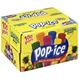 Pop-Ice 1oz Tropical Freezer Bars 100 Count