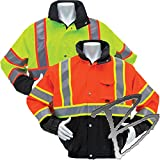 3 Season Waterproof Thermal Jacket with Removable Liner Orange - Large