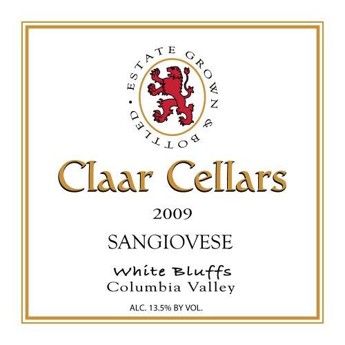 2009 Claar Cellars Estate White Bluffs Vineyard Sangiovese 750 Ml