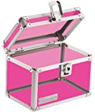Vaultz Locking 4 x 6 Inch Index Card Box, Acrylic Pink (VZ00208)