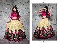 Bhavya Enterprise Benglori Silk Pink Lehenga