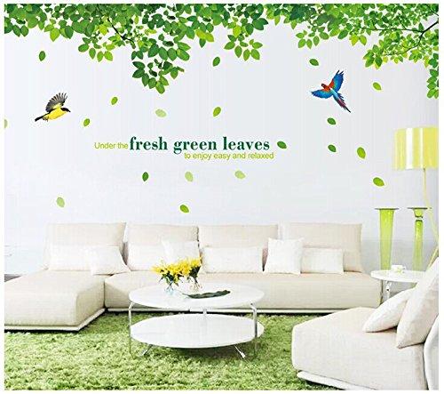 ufengker-foglie-verdi-e-uccelli-in-volo-adesivi-murali-camera-da-letto-soggiorno-adesivi-da-parete-r