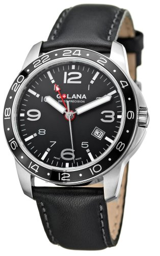 Golana Aero Pro Swiss Made Dual Time Zone Mens Watch AE300.1
