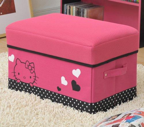 Hello Kitty storage box stool (with handles) magenta pink MSS-WHPTKKA (PIBK)