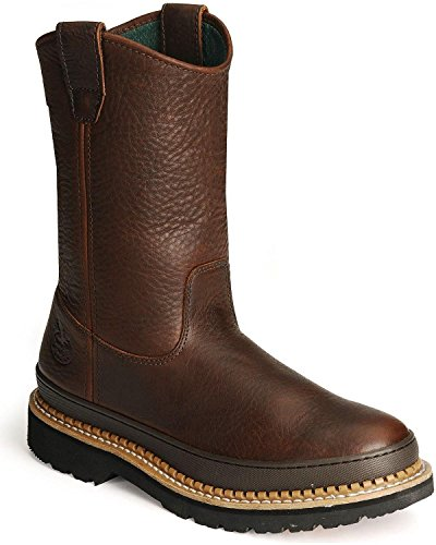 Georgia Giant 9in. Wellington Pull-On Work Boot - Soggy Brow