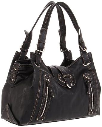 (疯抢)玖熙Nine West Zipster Satchel美女黑色挎包$43.62