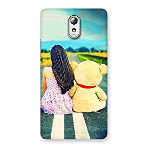 Impressive Teddy Girl Cute Multicolor Back Case Cover for Lenovo Vibe P1M
