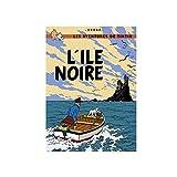 Poster Moulinsart Album de Tintin: L'île noire 22060 (70x50cm)...