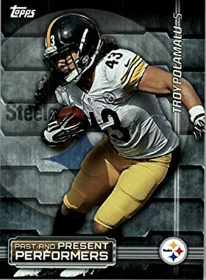 2015 Topps Past and Present Performers #PPPPG Troy Polamalu / Joe Greene - Pittsburgh Steelers (NFL Football Card)