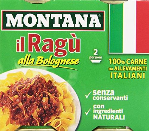 Montana - Ragu' alla Bolognese, Senza Conservanti, con Ingredienti naturali - 360 g