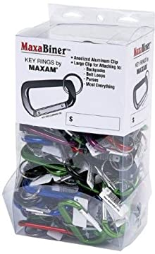 Maxam 100Pc Maxabinerassorted Color Clip Display (Pack Of 1)