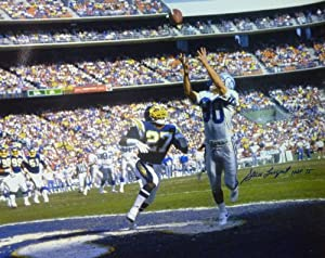 Steve Largent Autographed Seattle Seahawks Touchdown 16x20 Photo by DenverAutographs