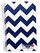 2014 bloom Calendar Year Daily Day Planner Fashion Organizer Agenda January 2014 Through December 2014 Navy Chevron