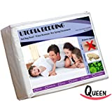 Box Spring Encasement Queen 3-Sided-Zipper - Bed Bug Proof, Water Resistant, Ultimate Protection against Insects, Dust Mites, Bacteria and Allergens - Preserves Expensive Box Spring Mattress - Hotel Quality Exceptionally Durable by Utopia Bedding