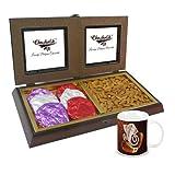 Chocholik Premium Gifts - Rocking Gift With Almonds & Belgium Chocolate Rocks With Diwali Special Coffee Mug -...
