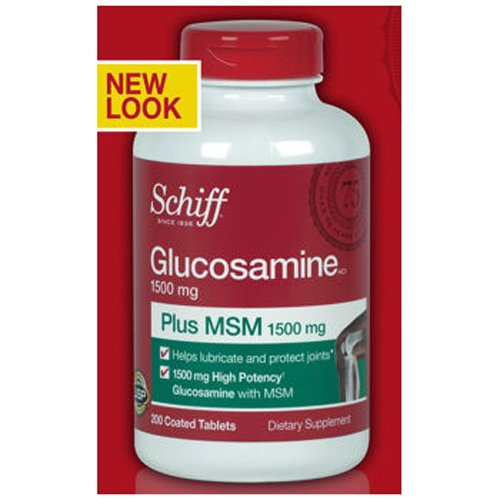 Schiff Glucosamine Plus Msm 1500Mg - 200 Coated Tablets
