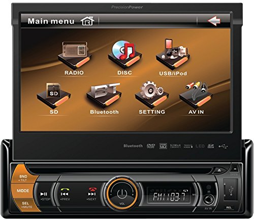 "7"" Single-Din In-Dash Motorized Flip-Up Lcd Touchscreen Receiver *** Product Description: 7"" Single-Din In-Dash Motorized Flip-Up Lcd Touchscreen Dvd Multimedia Receiver With Detachable Face, Bluetooth & Ipod Controlthe Pvi-170Bi Is A Dvd Multime ***"